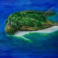 Last Island - Oil on panel - Luc Cappaert
