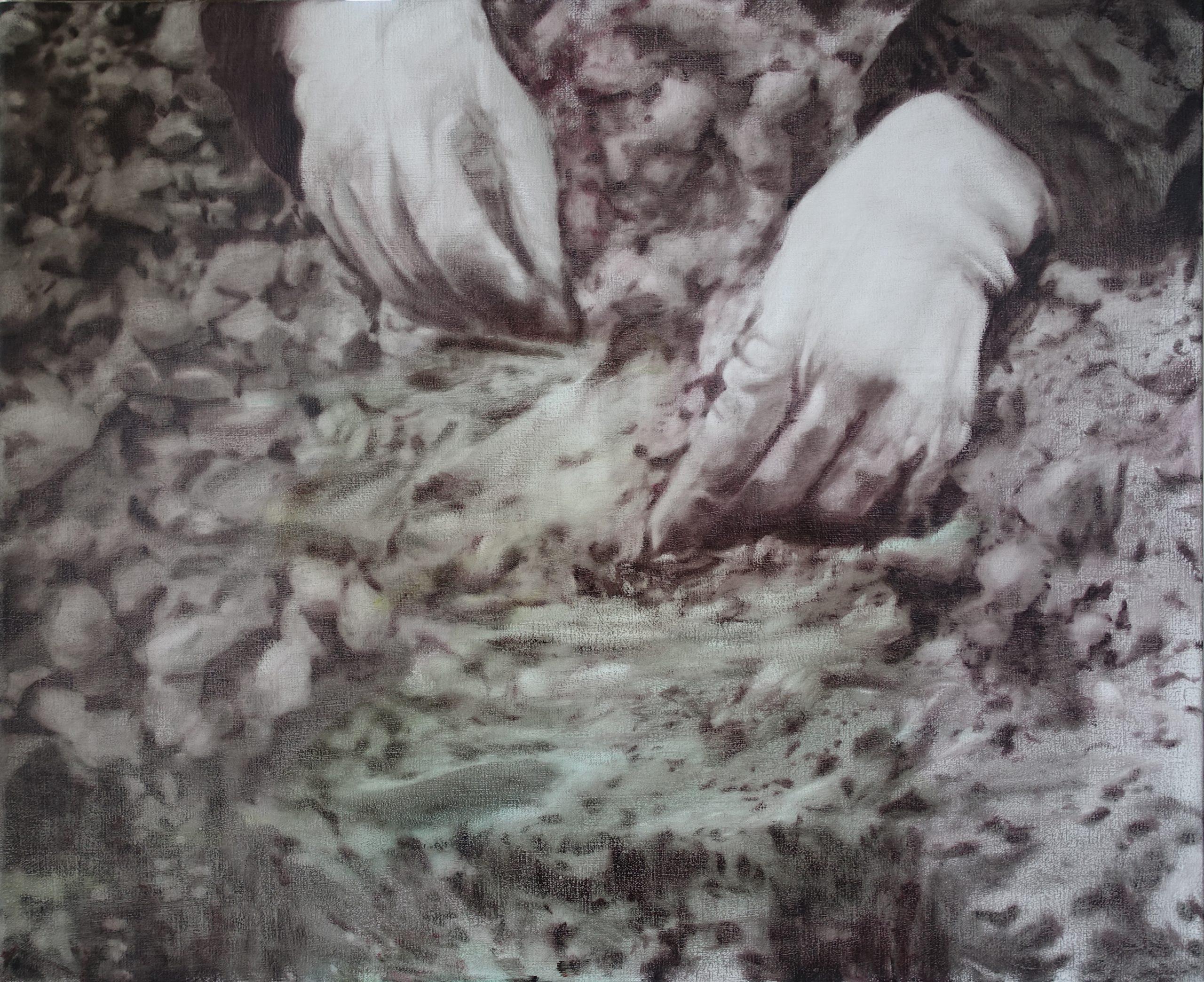 Study: Third Concept - Last Island - Oil on canvas - Luc Cappaert